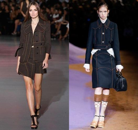 happenstijl-trend-twins-fashion-face-off-runway-spring-summer-2015-costume-national-prada-70s-topstitch-skirt-suit-denim-polyester