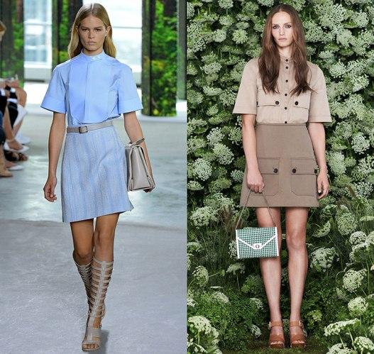 happenstijl-trend-twins-fashion-face-off-runway-spring-summer-2015-hugo-boss-jason-wu-mulberry-band-collar-shirt-bib-utility-pockets-a-line-skirt-tonal-monochromatic-70s